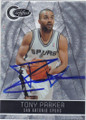 TONY PARKER SAN ANTONIO SPURS AUTOGRAPHED & NUMBERED BASKETBALL CARD #61114J