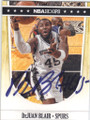 DeJUAN BLAIR SAN ANTONIO SPURS AUTOGRAPHED BASKETBALL CARD #61214C