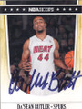 Da'SEAN BUTLER SAN ANTONIO SPURS AUTOGRAPHED ROOKIE BASKETBALL CARD #61214D