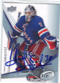 HENRIK LUNDQVIST NEW YORK RANGERS AUTOGRAPHED HOCKEY CARD #61214F