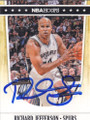 RICHARD JEFFERSON SAN ANTONIO SPURS AUTOGRAPHED BASKETBALL CARD #61214G