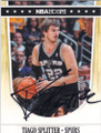 TIAGO SPLITTER SAN ANTONIO SPURS AUTOGRAPHED BASKETBALL CARD #61314D