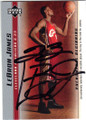 LeBRON JAMES CLEVELAND CAVALIERS AUTOGRAPHED ROOKIE BASKETBALL CARD #61314E
