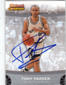 TONY PARKER SAN ANTONIO SPURS AUTOGRAPHED BASKETBALL CARD #61314i