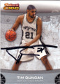 TIM DUNCAN SAN ANTONIO SPURS AUTOGRAPHED BASKETBALL CARD #61314J
