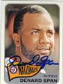 DENARD SPAN WASHINGTON NATIONALS AUTOGRAPHED BASEBALL CARD #62614C
