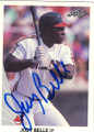 ALBERT BELLE CLEVELAND INDIANS AUTOGRAPHED ROOKIE BASEBALL CARD #62614F