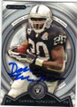 DARREN McFADDEN OAKLAND RAIDERS AUTOGRAPHED FOOTBALL CARD #62814B