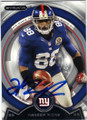 HAKEEM NICKS NEW YORK GIANTS AUTOGRAPHED FOOTBALL CARD #63014A
