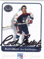 ROD GILBERT NEW YORK RANGERS AUTOGRAPHED HOCKEY CARD #70114C
