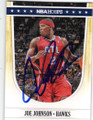 JOE JOHNSON ATLANTA HAWKS AUTOGRAPHED BASKETBALL CARD #70114E