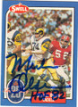 MERLIN OLSEN LOS ANGELES RAMS AUTOGRAPHED VINTAGE FOOTBALL CARD #70714A