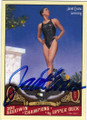 JANET EVANS AUTOGRAPHED SWIMMING CARD #70714C