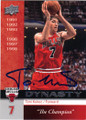 TONI KUKOC CHICAGO BULLS AUTOGRAPHED BASKETBALL CARD #71114C