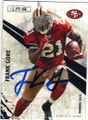 FRANK GORE SAN FRANCISCO 49ers AUTOGRAPHED FOOTBALL CARD #71714D