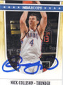 NICK COLLISON OKLAHOMA CITY THUNDER AUTOGRAPHED BASKETBALL CARD #71814E