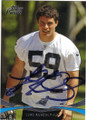 LUKE KUECHLY CARONLINA PANTHERS AUTOGRAPHED ROOKIE FOOTBALL CARD #72214G