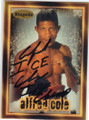 AL COLE AUTOGRAPHED BOXING CARD #72214J