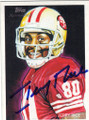JERRY RICE SAN FRANCISCO 49ers AUTOGRAPHED FOOTBALL CARD #72314G