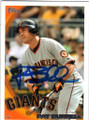 PAT BURRELL SAN FRANCISCO GIANTS AUTOGRAPHED BASEBALL CARD #72513J