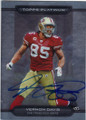 VERNON DAVIS SAN FRANCISCO 49ers AUTOGRAPHED FOOTBALL CARD #72914D