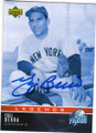 YOGI BERRA NEW YORK YANKEES AUTOGRAPHED BASEBALL CARD #72914i