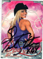 TRISH STRATUS AUTOGRAPHED WRESTLING CARD #73014A