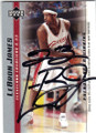 LeBRON JAMES CLEVELAND CAVALIERS AUTOGRAPHED ROOKIE BASKETBALL CARD #73014K