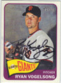 RYAN VOGELSONG SAN FRANCISCO GIANTS AUTOGRAPHED BASEBALL CARD #73114A