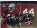 TOM RATHMAN SAN FRANCISCO 49ers AUTOGRAPHED FOOTBALL CARD #73114E