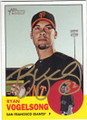 RYAN VOGELSONG SAN FRANCISCO GIANTS AUTOGRAPHED BASEBALL CARD #80114C