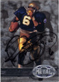 JEROME BETTIS NOTRE DAME FIGHTING IRISH AUTOGRAPHED FOOTBALL CARD #80214H