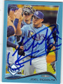 JOEL PERALTA TAMPA BAY RAYS AUTOGRAPHED BASEBALL CARD #80414J