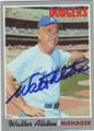 WALT ALSTON LOS ANGELES DODGERS AUTOGRAPHED VINTAGE BASEBALL CARD #80514D