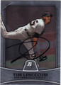 TIM LINCECUM SAN FRANCISCO GIANTS AUTOGRAPHED BASEBALL CARD #80514J
