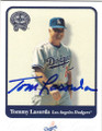 TOM LASORDA LOS ANGELES DODGERS AUTOGRAPHED BASEBALL CARD #80614L
