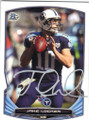 JAKE LOCKER TENNESEE TITANS AUTOGRAPHED FOOTBALL CARD #80814D