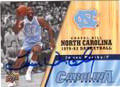 JAMES WORTHY NORTH CAROLINA TAR HEELS AUTOGRAPHED BASKETBALL CARD #80814E