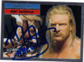 TRIPLE H AUTOGRAPHED WRESTLING CARD #80814F