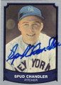 SPUD CHANDLER NEW YORK YANKEES AUTOGRAPHED VINTAGE BASEBALL CARD #80814P