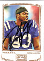 DWIGHT FREENEY INDIANAPOLIS COLTS AUTOGRAPHED FOOTBALL CARD #80914A