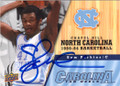 SAM PERKINS NORTH CAROLINA TAR HEELS AUTOGRAPHED BASKETBALL CARD #80914D