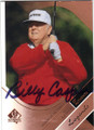 BILLY CASPER AUTOGRAPHED GOLF CARD #80914F