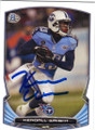 KENDALL WRIGHT TENNESSEE TITANS AUTOGRAPHED FOOTBALL CARD #80914K