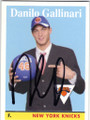 DANILO GALLINARI NEW YORK KNICKS AUTOGRAPHED ROOKIE BASKETBALL CARD #81114F