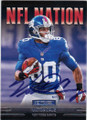 VICTOR CRUZ NEW YORK GIANTS AUTOGRAPHED FOOTBALL CARD #81114i