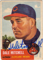 DALE MITCHELL CLEVELAND INDIANS AUTOGRAPHED VINTAGE BASEBALL CARD #81414A