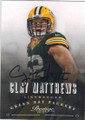 CLAY MATTHEWS GREEN BAY PACKERS AUTOGRAPHED FOOTBALL CARD #81414C