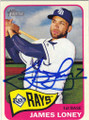JAMES LONEY TAMPA BAY RAYS AUTOGRAPHED BASEBALL CARD #81414F
