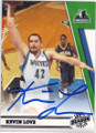 KEVIN LOVE MINNESOTA TIMBERWOLVES AUTOGRAPHED BASKETBALL CARD #82414H